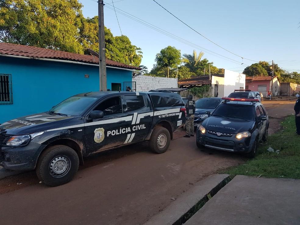 Operação da polícia prendeu pai e filho suspeitos de realizar agiotagem em Miranda do Norte — Foto: Divulgação/Polícia Civil