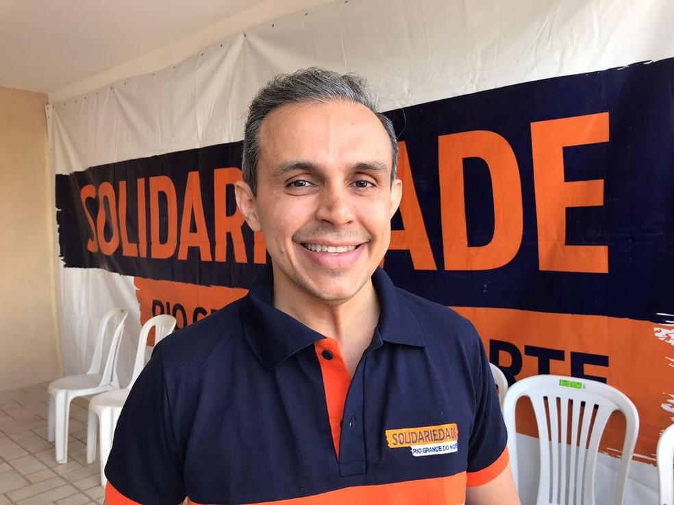 Brenno Queiroga foi escolhido pelo partido Solidariedade para disputar o governo do RN (Foto: Michelle Rincon/Inter TV Cabugi)