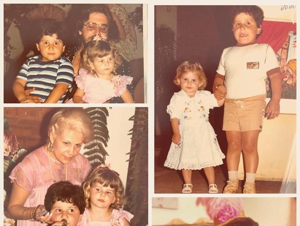 Karina Bacchi em fotos de infância  (Foto: Reprodução/Instagram)