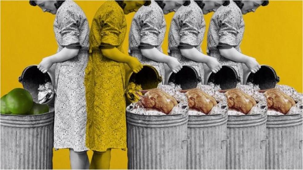 Evitar o desperdício de alimentos pode reduzir sua pegada de carbono — Foto: Getty Images/Javier Hirschfeld/BBC