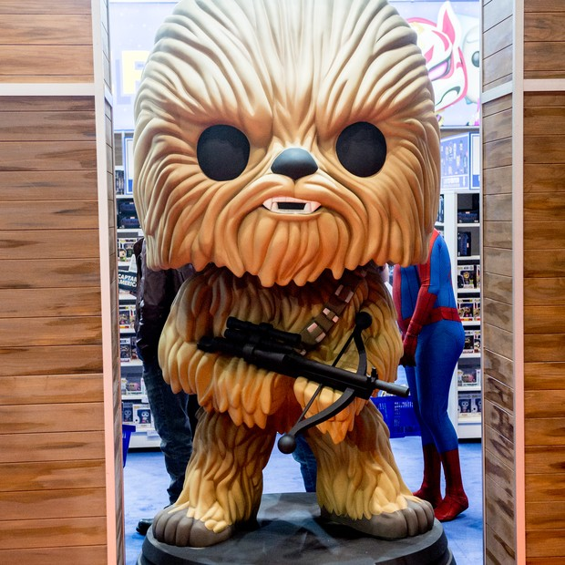 Bonequinho da Funko imita personagem Chewbacca, de Star Wars (Foto: (Photo by Ollie Millington/Getty Images))
