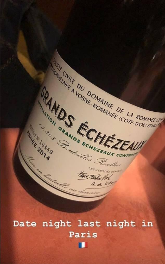Vinho de R$ 6,8 mil comprado por David e Victoria Beckham (Foto: Instagram)