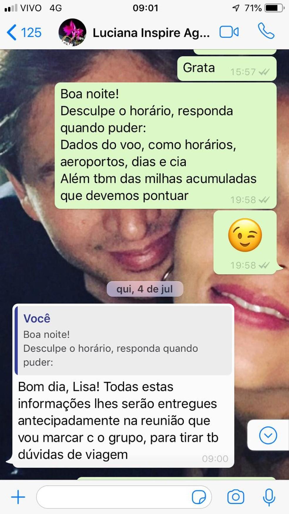 Vítimas disseram que suspeita embolsou cerca de R$ 80 mil em MS — Foto: WhatsApp