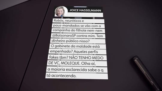 Eduardo Bolsonaro e Joice Hasselmann trocam ofensas na internet