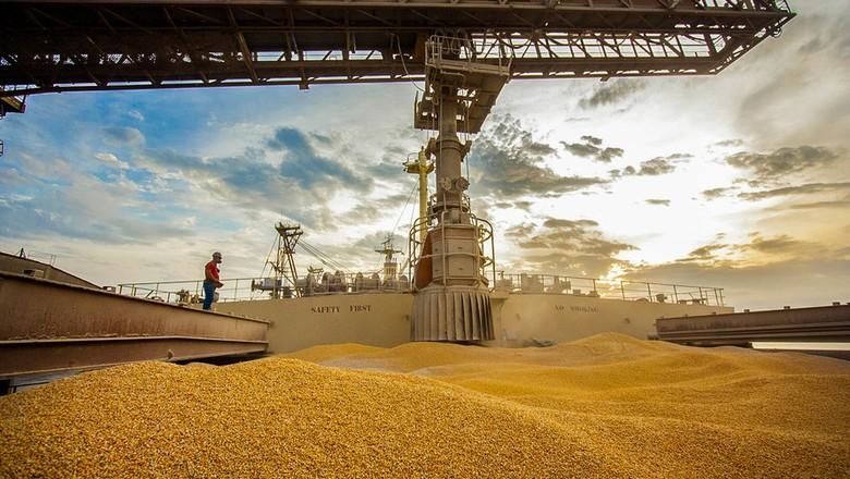 portos-exportação-milho-paraná- (Foto: Cláudio Neves/Appa)