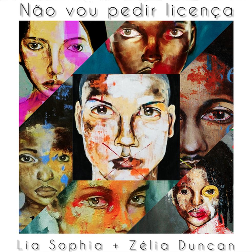 Capa do single 'Não vou pedir licença', de Lia Sophia com Zélia Duncan — Foto: Divulgação