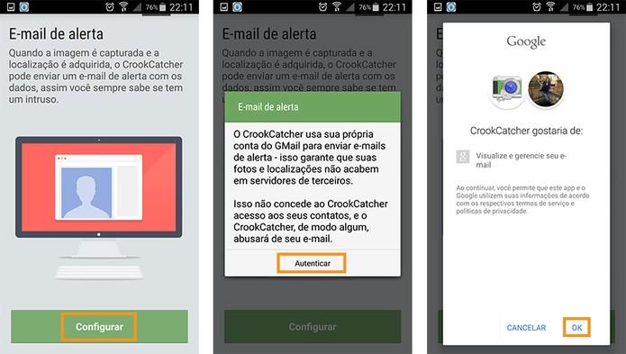 Permitir o acesso ao Gmail pelo app (Foto: Reprodução/Barbara Mannara)