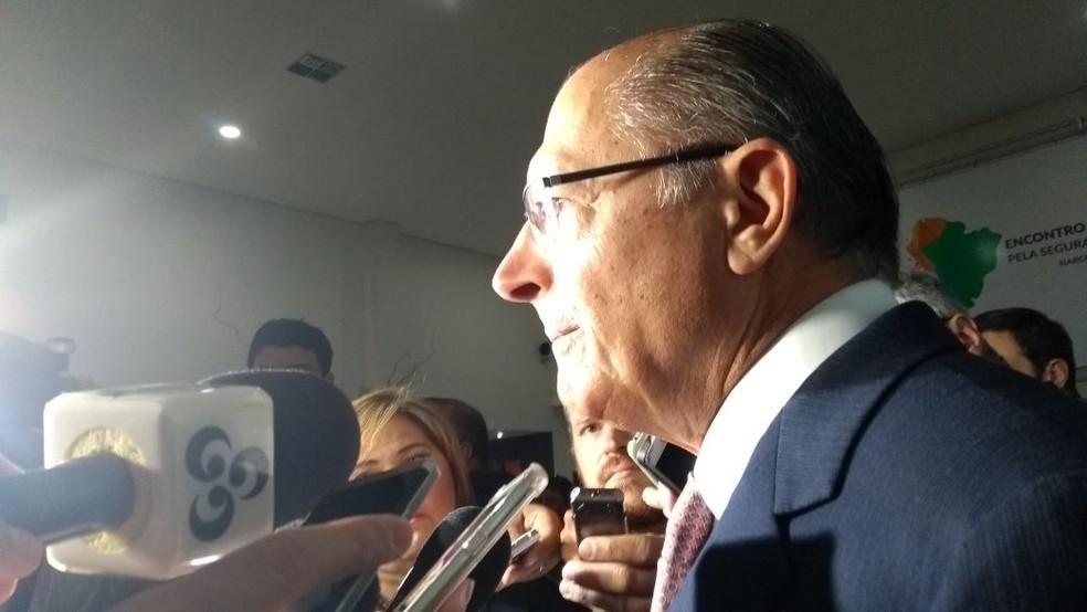 O governador de São Paulo, Geraldo Alckmin (PSDB), disse que esse é um momento que exige uma união e esforços de todos os gestores (Foto: Quésia Melo/G1)