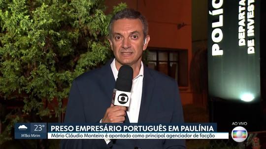 Preso empresário português em Paulínia, no interior de São Paulo