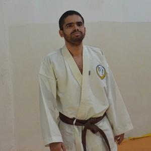 André Felipe Fonseca, lutador de Karatê mudo (Foto: Nailson Wapichana)