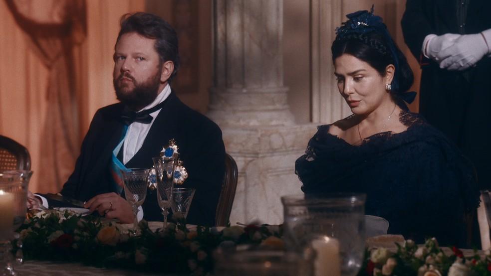 Pedro II (Selton Mello) ficará cheio de ciúmes da Condessa de Barral em 'Nos Tempos do Imperador' — Foto: Globo