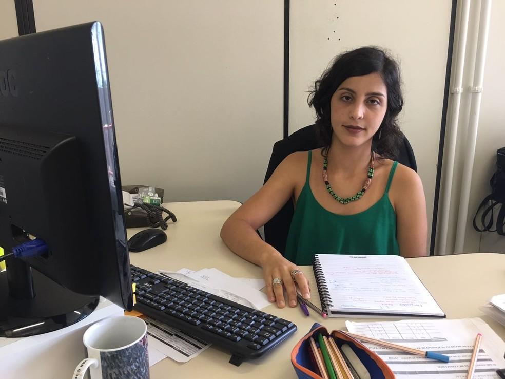 Pesquisadora Clara Flores (Foto: Danutta Rodrigues/G1)