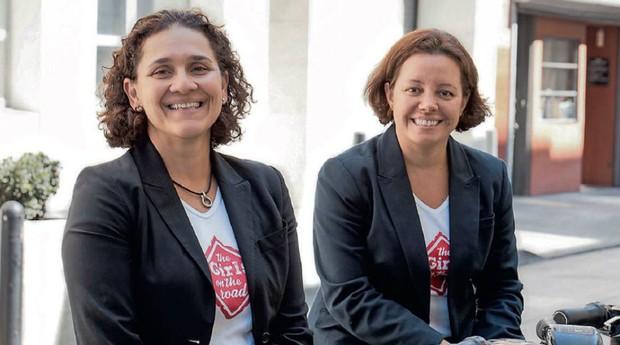 Na estrada: Taciana Mello e Fernanda Moura, no Vale do Silício: elas rodaram o mundo em busca de histórias de empreendedorismo (Foto: Divulgação)