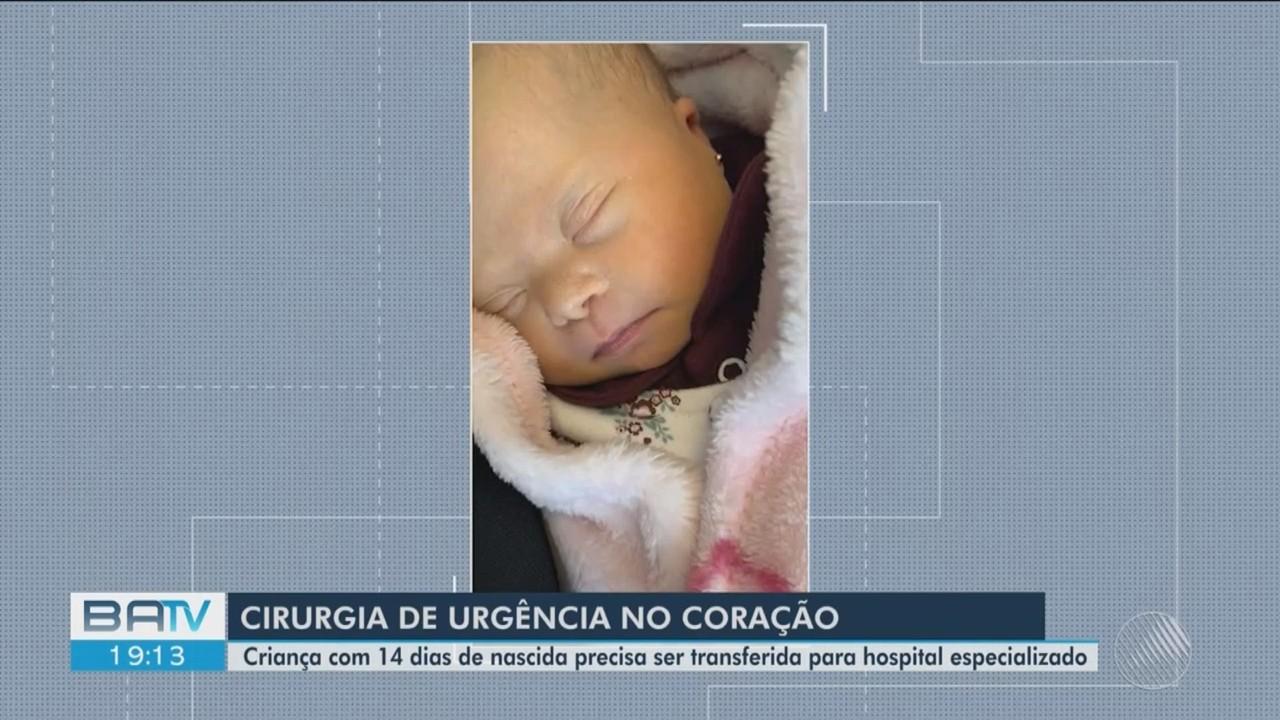 Bebê recém nascida em Conquista precisa de cirurgia de urgência em hospital especielizado