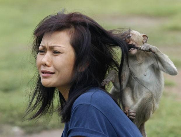 mordendo cabelo oito
