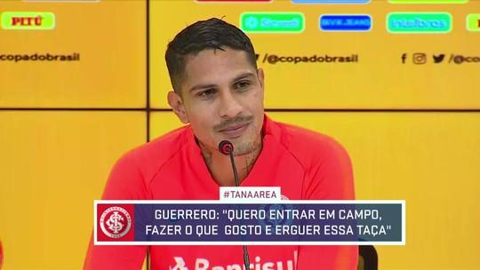 "Guerrero diz que Inter vai com ""faca nos dentes"" e quer coroar ano mais importante da vida"