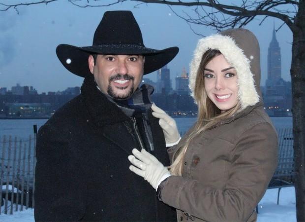 Edson e Deia Cypri (Foto: Railly Gimenes)