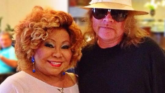 Alcione relembra encontro com Axl Rose e espera pelo show do cantor no Rock in Rio