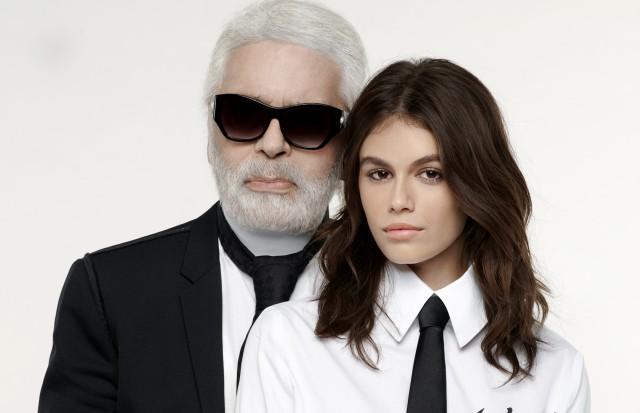 Karl Lagerfeld apresenta a coleção cápsula Karl Lagerfeld x Kaia (Foto: Divulgação)