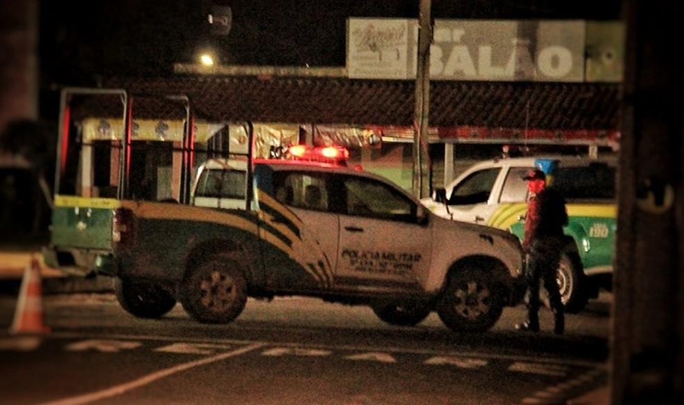 Polícia Militar de Piracuruca sofreu ataque de bandidos.  — Foto: Reprodução/Piracuruca ao Vivo