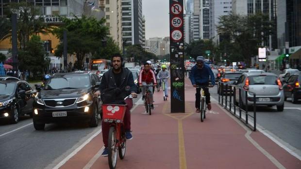 Ciclovia da Avenida Paulista facilita a mobilidade urbana na cidade de São Paulo (Foto: Arquivo/Agência Brasil)
