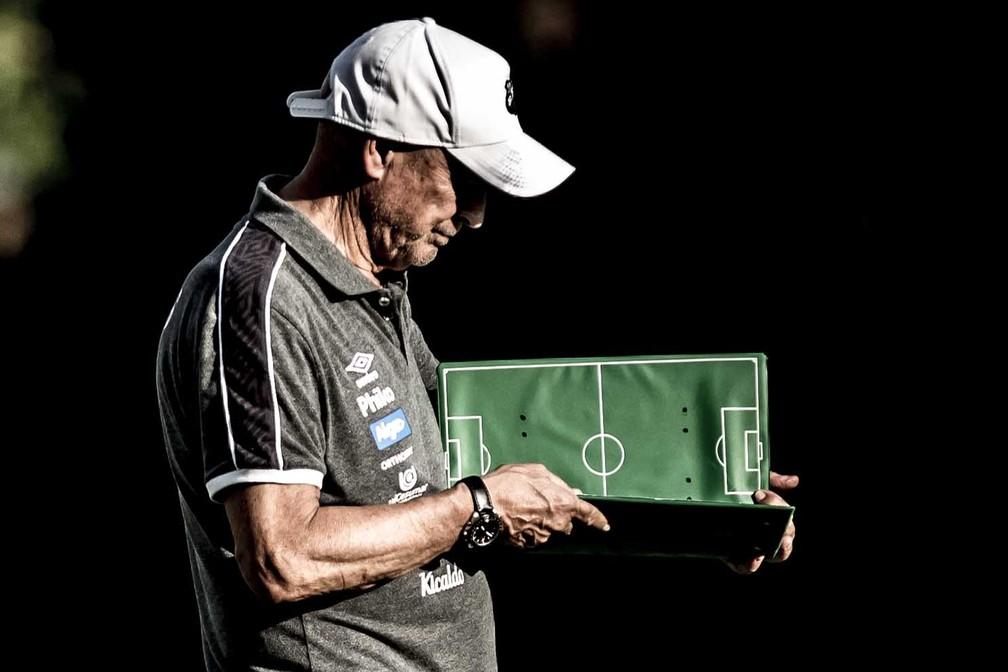 Jesualdo Ferreira, técnico do Santos — Foto: Ivan Storti/Santos FC