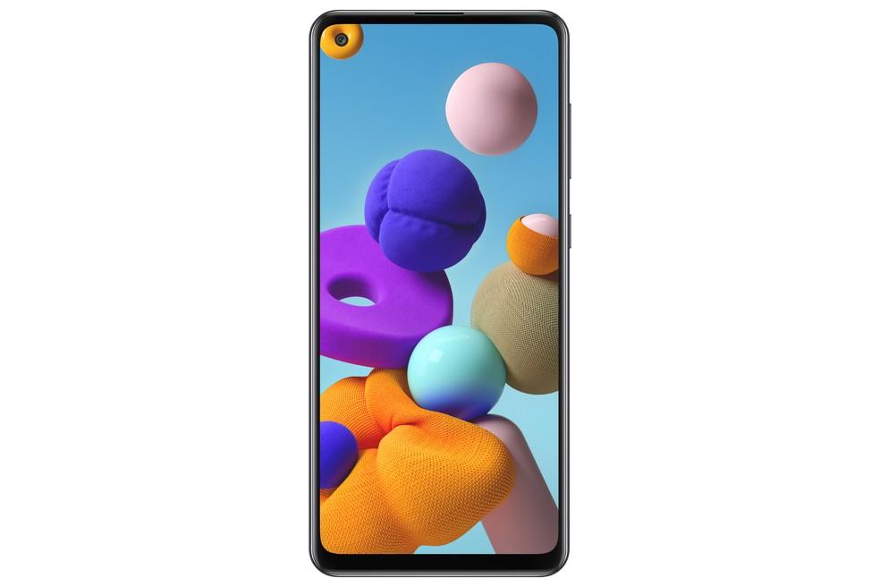 Galaxy A21S: tela de 6,5 polegadas — Foto: Divulgação/Samsung