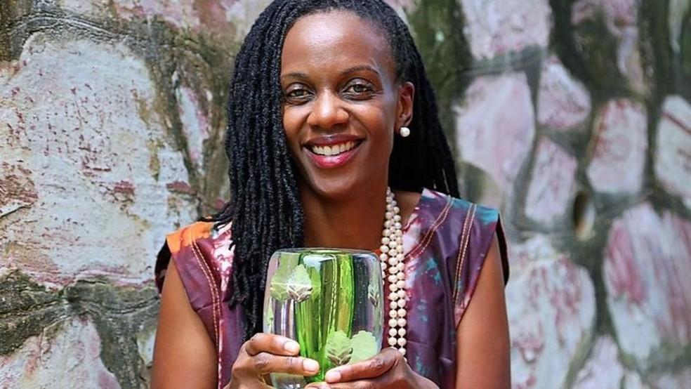 Ganhar o prêmio foi um choque para Nakalembe — Foto: Africa Food Prize via BBC