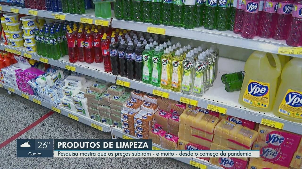 Preço de produtos de limpeza tem alta durante pandemia de Covid-19 em Ribeirão Preto
