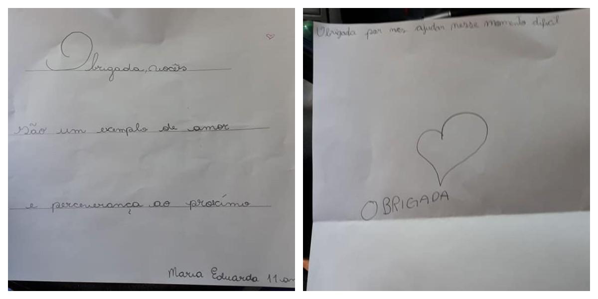 Coletores de lixo se emocionam com carta de criança: 'Obrigada por ajudar'