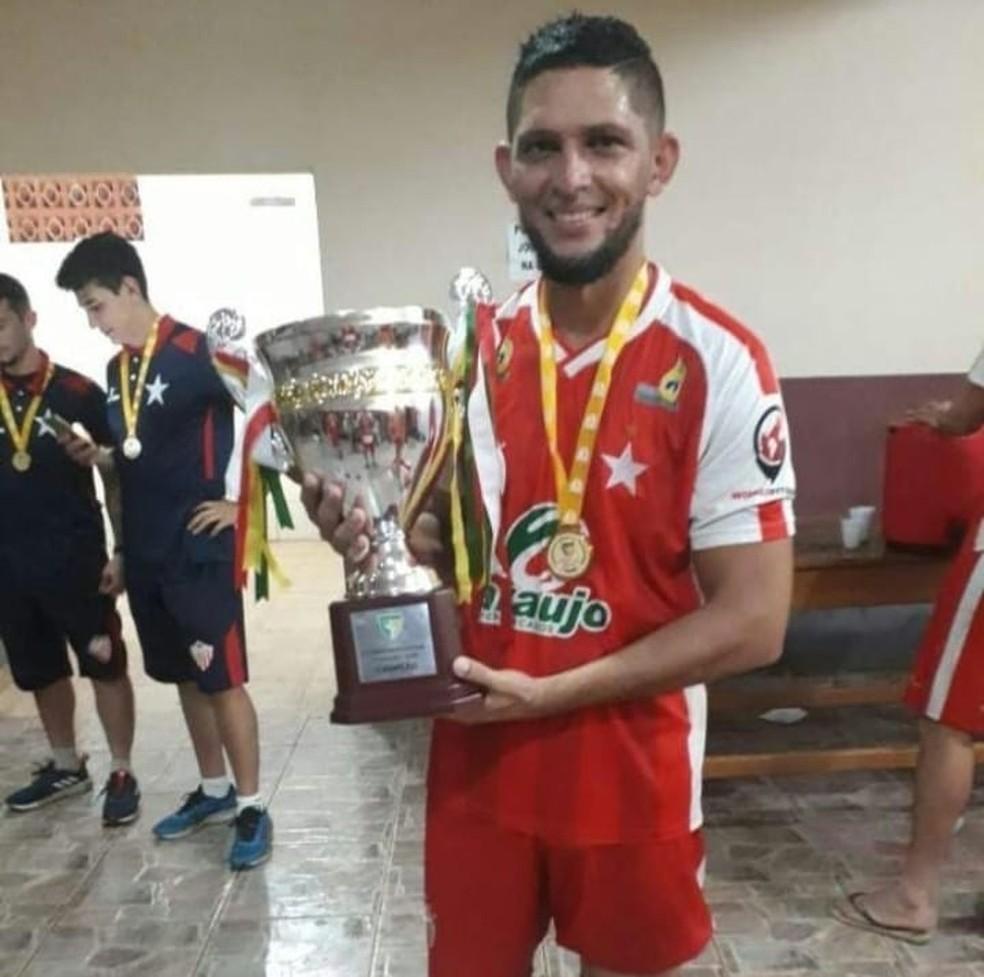 Geovani foi campeão acreano pelo Rio Branco, m 2018 — Foto: Arquivo pessoal/Geovani Monteiro