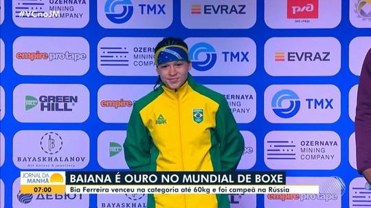 Atleta baiana vence o Mundial de Boxe feminino, na Rússia