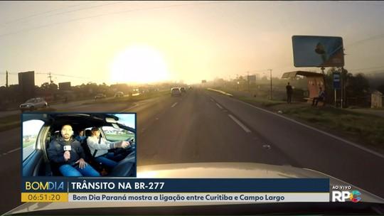 Equipe do Bom Dia Paraná percorre BR-277 entre Campo Largo e Curitiba