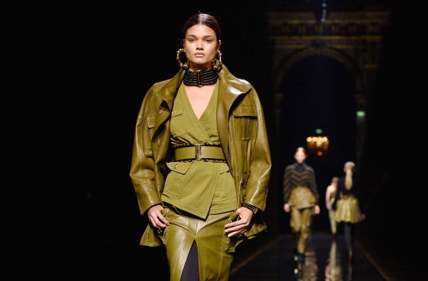"""Welcome to my jungle"", disse Olivier Rousteing sobre o desfile de inverno 2015 da Balmain (Foto: Getty Images)"