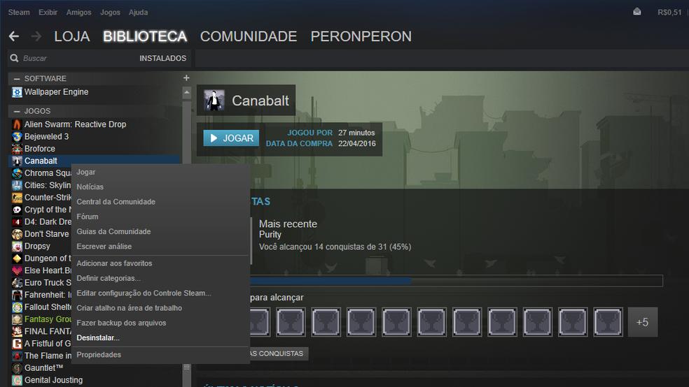 Como desinstalar um jogo no Steam | Plataformas Online