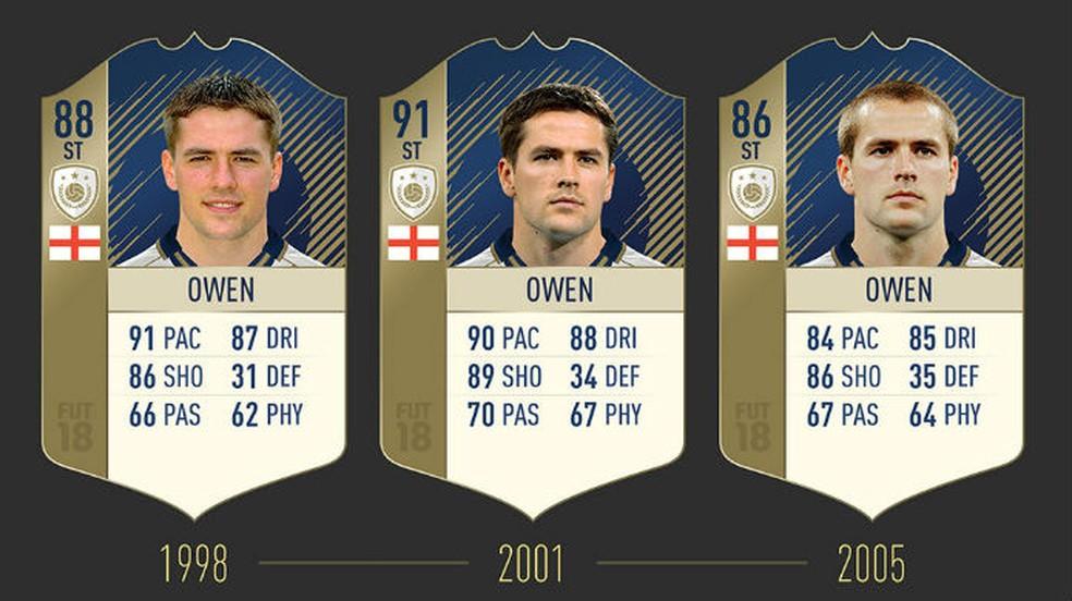FIFA 18: confira as três cartas de Owen (Foto: Divulgação / EA)