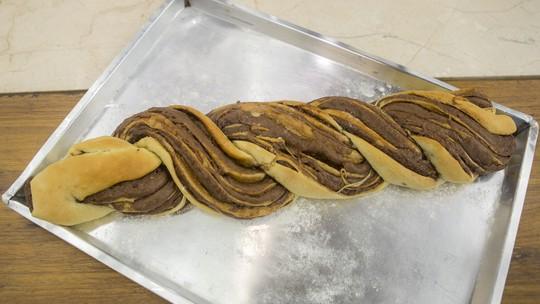 Pão Trançado com Creme de Avelã