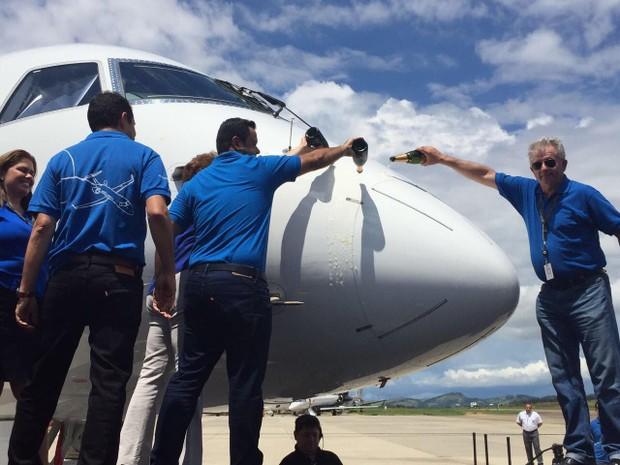 Embraer lança maior jato comercial do Brasil, o E195-E2 (Foto: Poliana Casemiro)