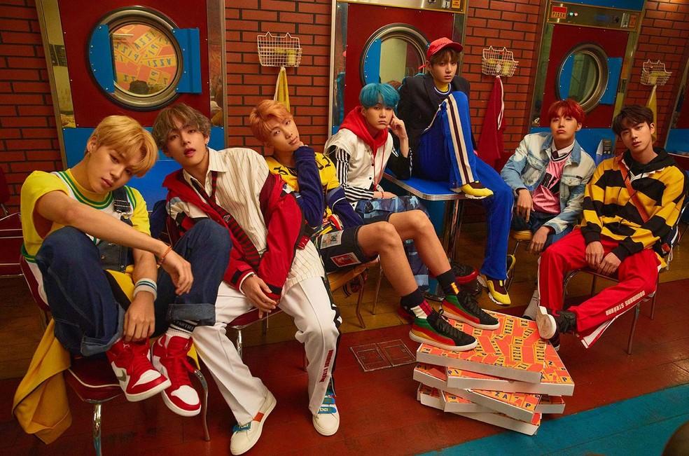 A boy band sul-coreana BTS — Foto: Foto: Divulgação