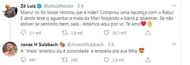 Marido de Mari rebateu um comentário de Zé Luiz nas redes (Foto: reprodução/ Twitter)