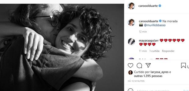 Aline Klein e a atriz, Carol Duarte (Foto: Reprodução/Instagram)