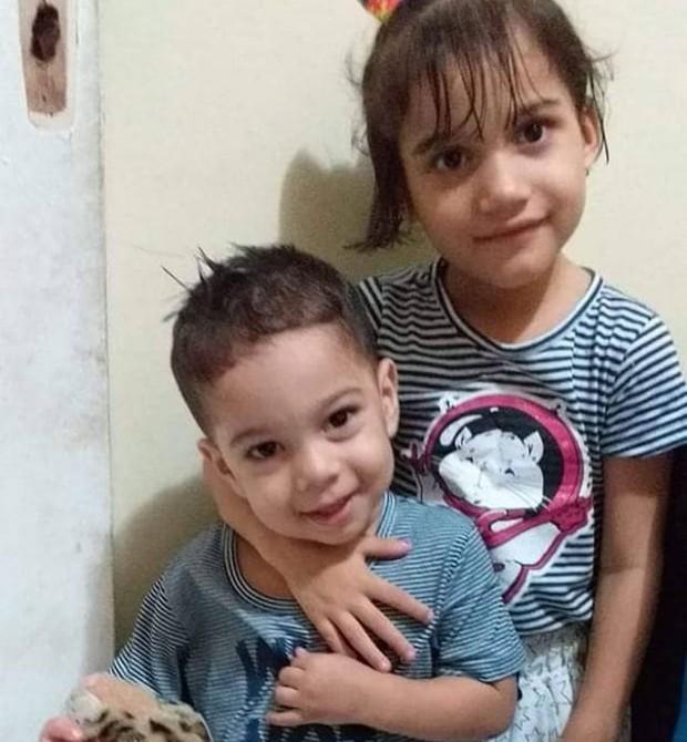 Yasmin, 5, e o irmão, Lucas, 2 (Foto: Arquivo pessoal)