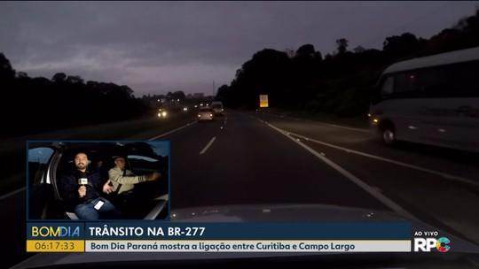 Reportagem na BR 277 mostra como é o movimento no trecho entre Campo Largo e Curitiba