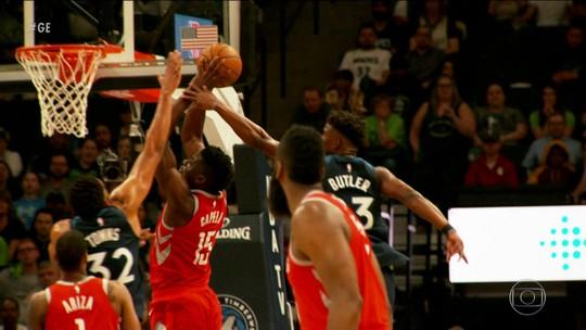 Houston Rockets e Minnesota Timberwolves vencem na rodada dos playoffs da NBA