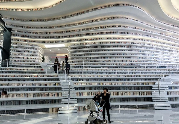 Tianjin Binhai Library (Foto: Getty Images)