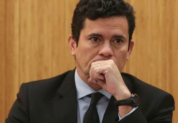 O juiz federal Sérgio Moro participa da palestra Democracia, Corrupção e Justiça em Brasília (Foto: José cruz/Agência Brasil)