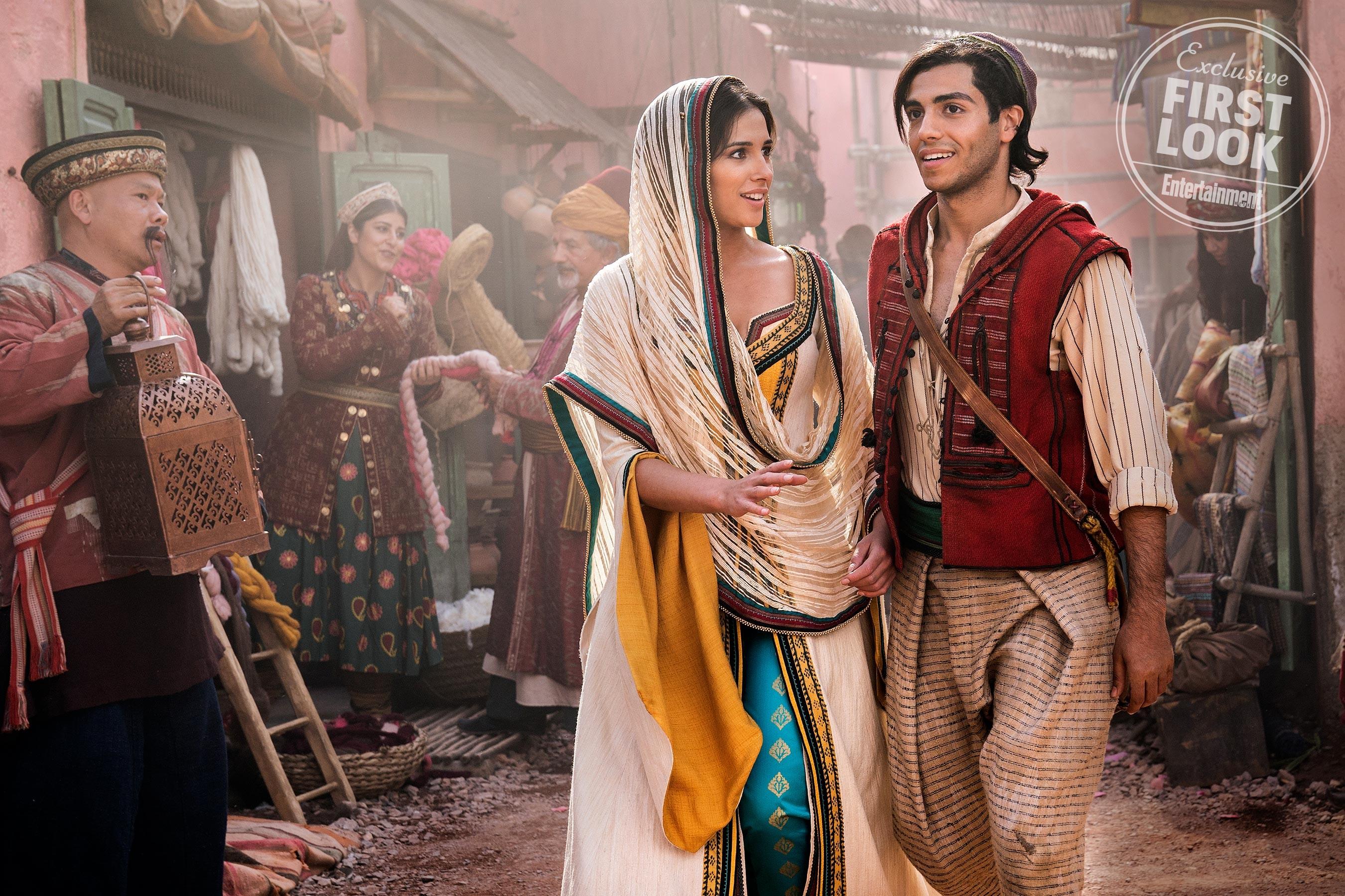 A princesa Jasmine e Aladdin aparecem em novas imagens da live-action (Foto: Entertainment Weekly)
