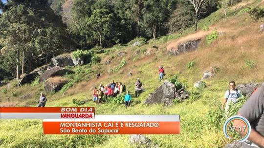 Montanhista fica gravemente ferido após cair de pedra em São Bento do Sapucaí