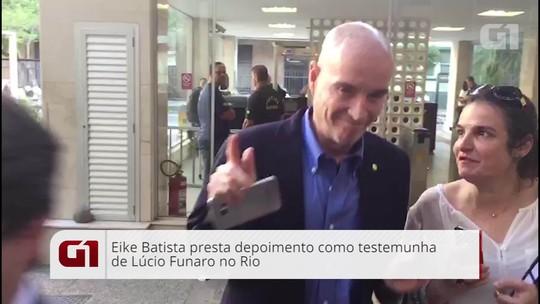 Eike Batista presta depoimento na Justiça Federal do Rio