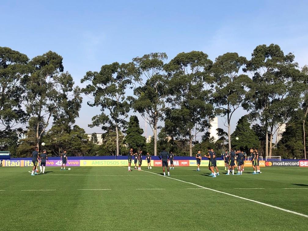 Seleção sub-23 encerrou preparação para amistoso contra o Chile — Foto: Ana Canhedo